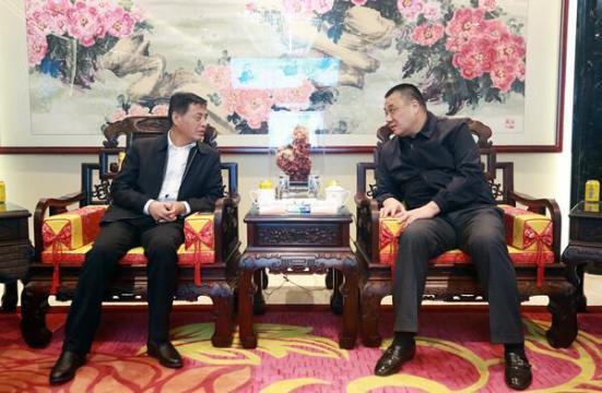 陕西省延安新区党工委副书记、管委会主任薛鹏春一行到访康美药业